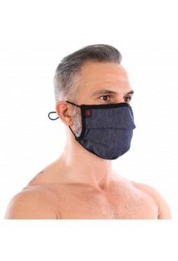Denim pleated mask