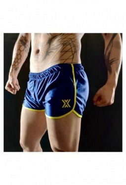 Miniboxer 70s Short - marine blue/yellow